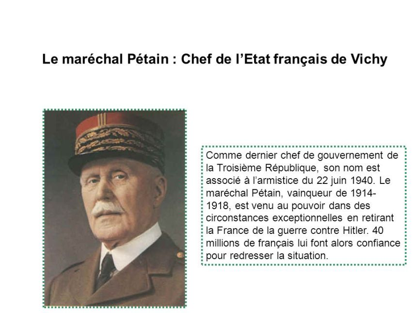 Le + maréchal + Pétain + - + Chef + de + l_Etat + English + de + Vichy