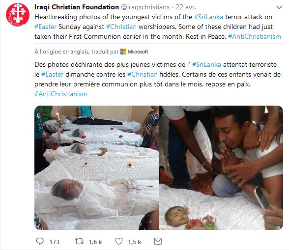 Massacre Chrétien au Sri-Lanka