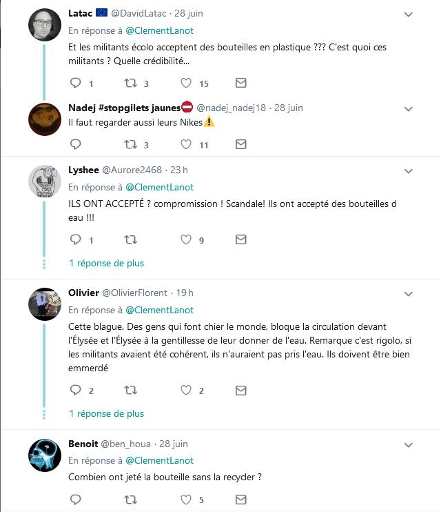 Screenshot_2019-06-30 Clément Lanot sur Twitter DIRECT - L'#Elysée a fait distribuer de l'eau aux militants pour le climat [...](3)