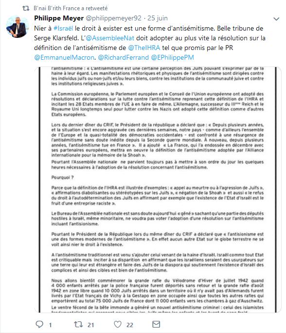 Screenshot_2019-07-07 B'nai B'rith France ( BnaiBrithFrance) Twitter(2)