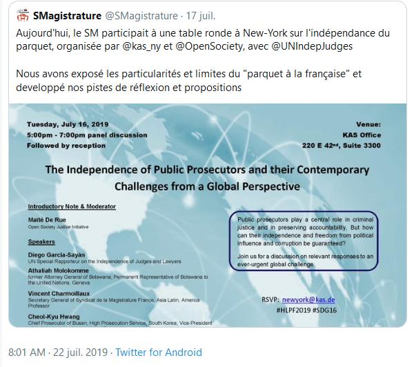 Screenshot_2019-07-23 (1) Gare au Gorille ✝️ sur Twitter Le Syndicat de la Magistrature français va chercher ses ordres che[...](1)