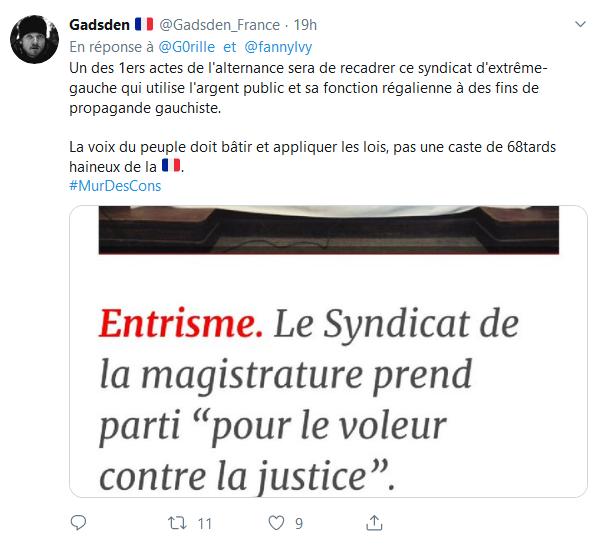 Screenshot_2019-07-23 (1) Gare au Gorille ✝️ sur Twitter Le Syndicat de la Magistrature français va chercher ses ordres che[...](2)