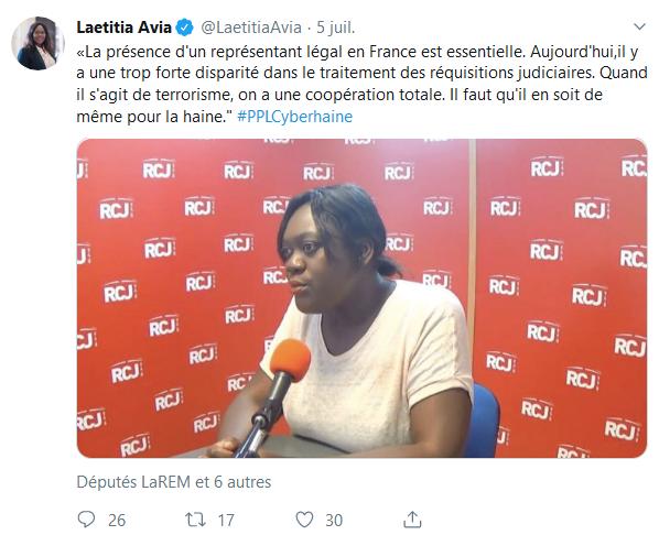Screenshot_2019-07-25 Laetitia Avia ( LaetitiaAvia) Twitter