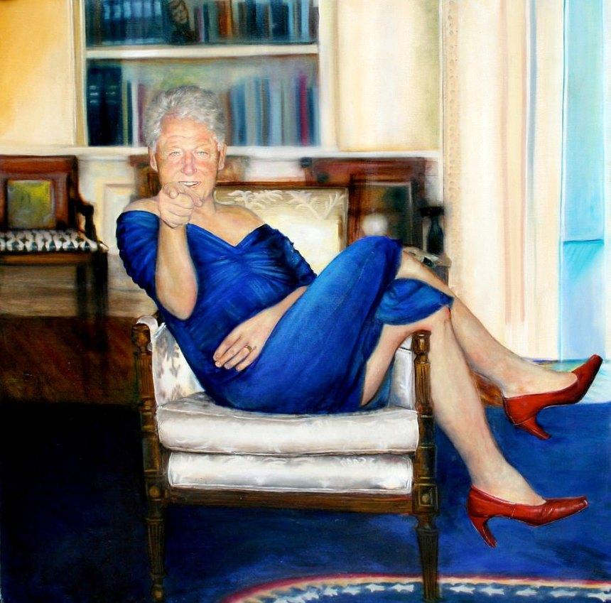 Clinton en robe chez Epstein