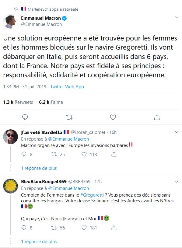 Screenshot_2019-08-01 Emmanuel Macron sur Twitter Une solution européenne a été trouvée pour les femmes et les hommes bloqu[...]