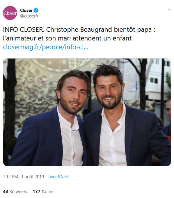 Screenshot_2019-08-02 Closer sur Twitter INFO CLOSER Christophe Beaugrand bientôt papa l'animateur et son mari attendent un[...].png