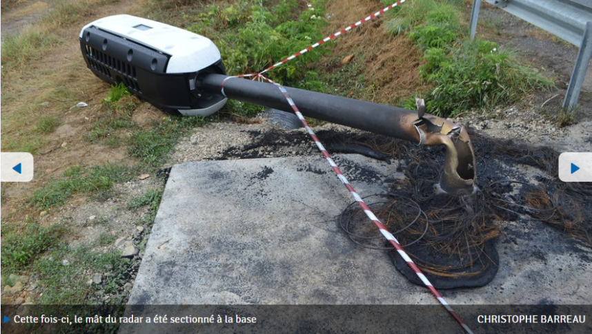 Screenshot_2019-08-05 Aude le radar dernier cri de la RD 118 détruit deux fois en sept jours