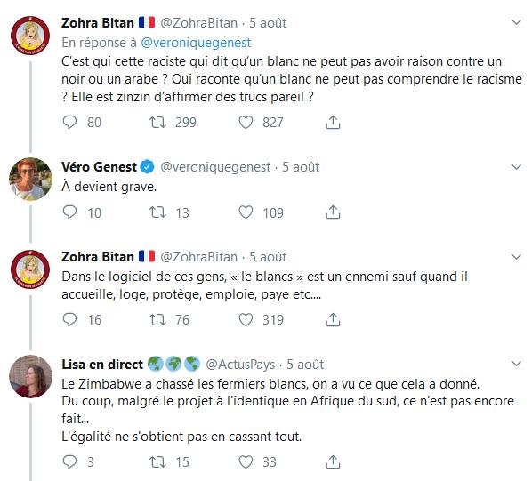 Screenshot_2019-08-07 Véro Genest sur Twitter C'est quoi ce discours raciste assumé Elle a pété un cable https t co 9Kxh4kI[...](2)
