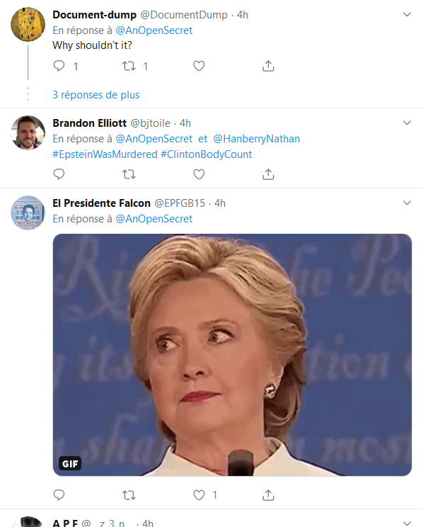 Screenshot_2019-08-10 An Open Secret sur Twitter Less than 1 hour after news of Jeffrey Epstein's death, #ClintonBodyCount [...](1)