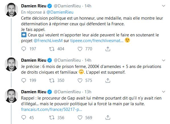 Screenshot_2019-08-30 (2) Damien Rieu sur Twitter L'Etat a donc décidé de persécuter les jeunes Français qui osent prouver [...](1)