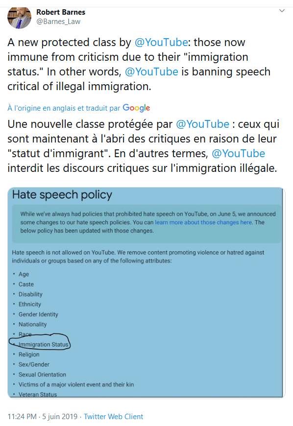 Screenshot_2019-09-06 (2) Robert Barnes sur Twitter A new protected class by YouTube those now immune from criticism due to[...](1)