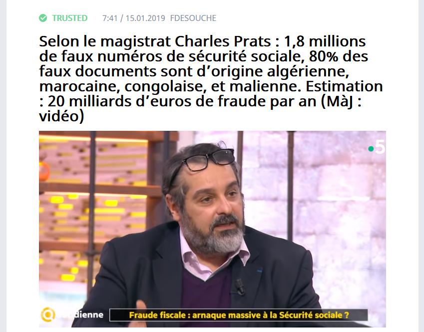 Screenshot_2019-09-06 Selon le magistrat Charles Prats 1,8 millions de faux numéros de sécurité sociale, 80% des faux docum[...](1)