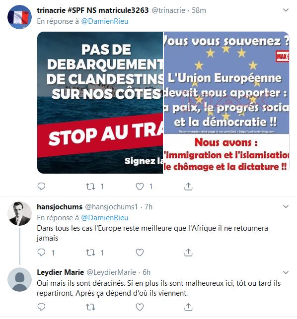 Screenshot_2019-09-14 (2) Damien Rieu sur Twitter « Je conseille aux Africains de rester en Afrique La télévision ne nous a[...](3)