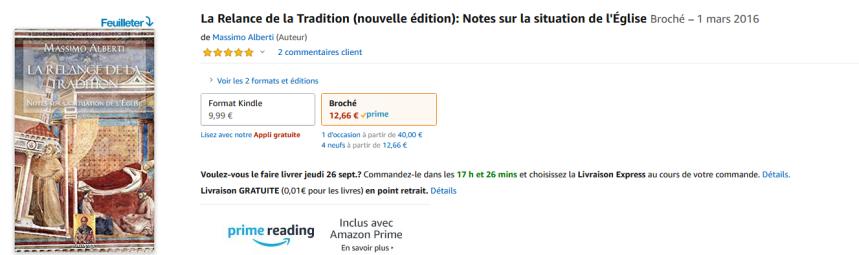 Screenshot_2019-09-23 Amazon fr - La Relance de la Tradition (nouvelle édition) Notes sur la situation de l'Église - Massim[...].png