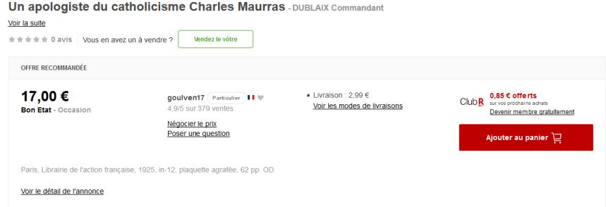 Screenshot_2019-09-23 Un apologiste du catholicisme Charles Maurras Rakuten