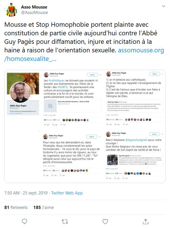 Screenshot_2019-09-27 (8) Asso Mousse sur Twitter Mousse et Stop Homophobie portent plainte avec constitution de partie civ[...]