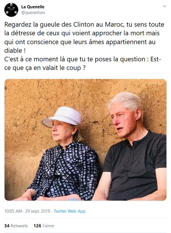 Screenshot_2019-09-30 (1) La Quenelle sur Twitter Regardez la gueule des Clinton au Maroc, tu sens toute la détresse de ceu[...]
