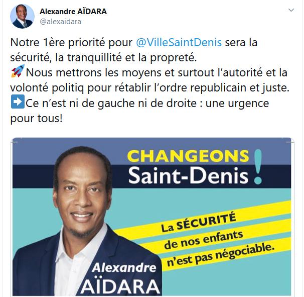 Screenshot_2019-10-02 (2) Alexandre AÏDARA sur Twitter Notre 1ère priorité pour VilleSaintDenis sera la sécurité, la tranqu[...]