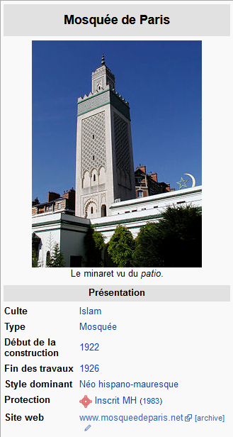 Screenshot_2019-10-04 Grande mosquée de Paris — Wikipédia