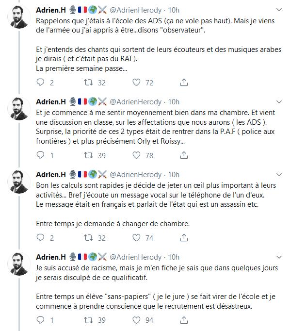 Screenshot_2019-10-07 (2) Adrien H 🎙️🇫🇷🌍⚔️ sur Twitter Ce qui est arrivé à la Préfecture n'est pas un cas isolé d'infil[...](2)