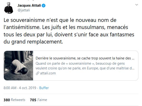 Screenshot_2019-10-07 Jacques Attali sur Twitter Le souverainisme n'est que le nouveau nom de l'antisémitisme Les juifs et [...]
