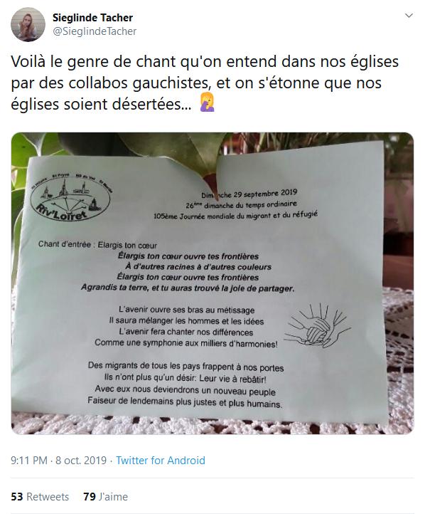 Screenshot_2019-10-10 Sieglinde Tacher sur Twitter Voilà le genre de chant qu'on entend dans nos églises par des collabos g[...].png