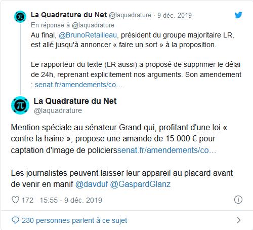 Screenshot_2019-12-11 Le sénateur de l'Hérault Jean-Pierre Grand veut punir la diffusion de photos de forces de l'ordre(2)