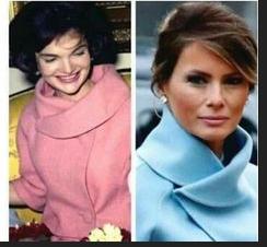 Jackie and Mélania same overcoat