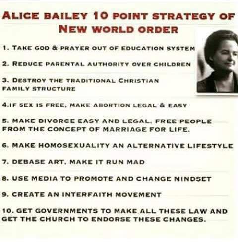 TradCatKnight: Luciferian Alice Bailey's 10 Point Strategy ...